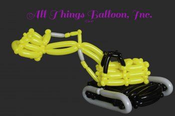 balloon artist - balloon tracked crane vehicle