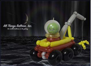 balloon decorator - balloon alien tow truck