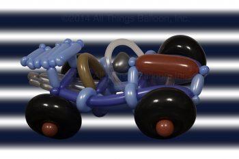 balloon artist - wearable balloon car