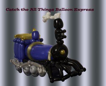 balloon artist - blue steam engine