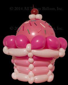 balloon artist - balloon cupcake