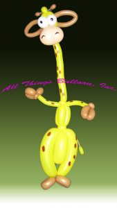 balloon artist: balloon Giraffe for kid's party