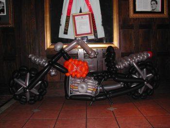balloon decorator - balloon full-sized motor cycle