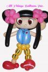 birthday party - balloon artist-built Kai Lan balloon character