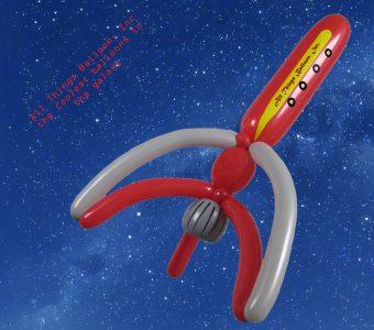 balloon artist - balloon logo rocket