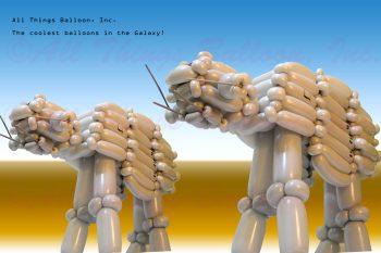 balloon artist - balloon version of Star Wars walker machine