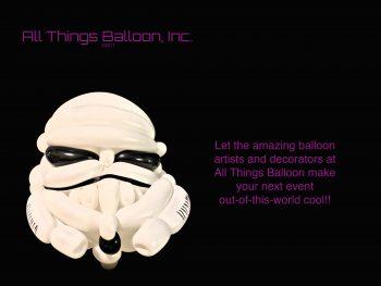 balloon artist - balloon Storm Trooper helmet