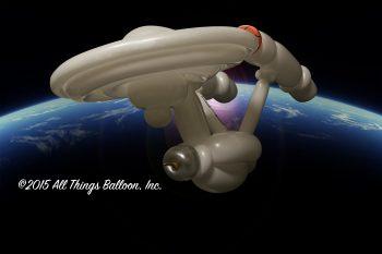 balloon artist - balloon version of USS Enterprise space ship