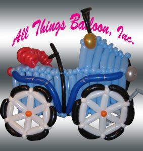 balloon decorator - balloon vintage car